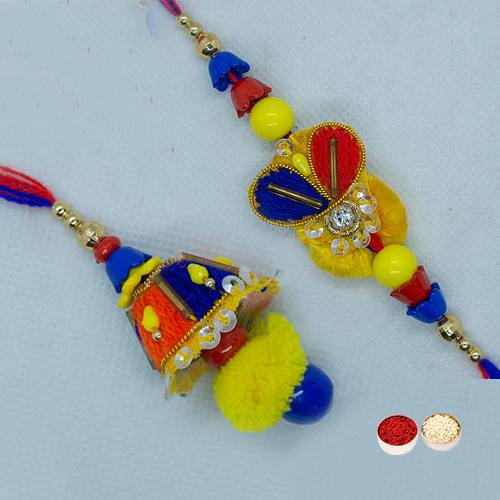Dashing Bhaiya Bhabhi Rakhi Set with Prosperity