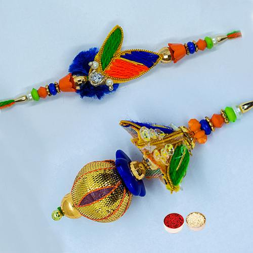 Fascinating Love Bhaiya Bhabhi Rakhi Set