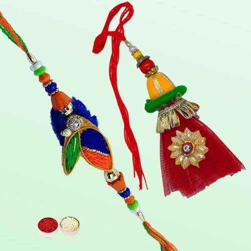 Feel-Better Bhaiya Bhabhi Rakhi Set with Warm Love