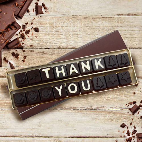 Delicious Thank You Homemade Chocolate