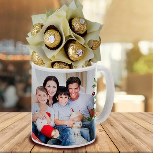 Lovely Personalized Coffee Mug with Ferrero Rocher
