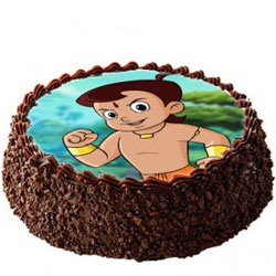 Tasty Chota Bheem Photo Cake for Kids