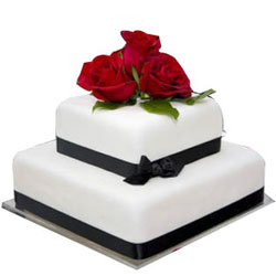 Delicious 2 Tier Wedding Cake