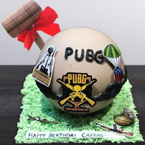 Exclusive PUBG Styled Smash Cake with Hammer
