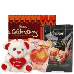 Exclusive Combo of Assorted Chocolates with Teddy