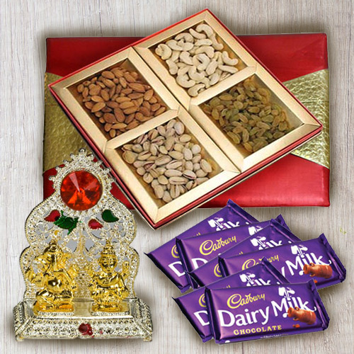 Classic Mixed Dry Fruits with Ganesh Mandap N Chocolates