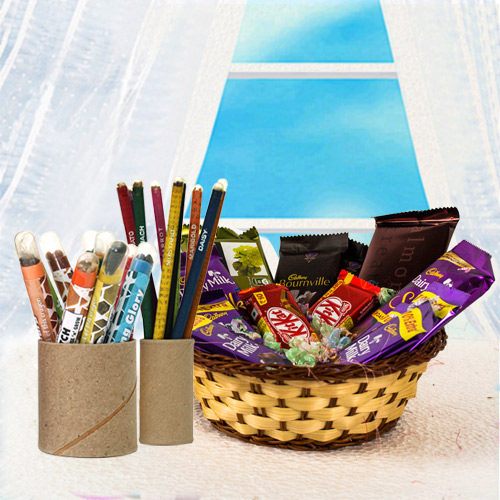 Exclusive BioQ Colouring Set with Assorted Chocolates