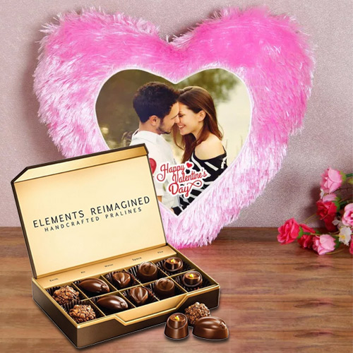 Stunning Personalized Cushion with ITC Premium Chocolates