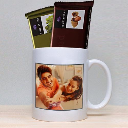 Personalized Photo Mug N Two Cadbury Chocolates