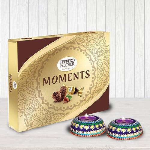 Delicious Ferrero Rocher Moments with Twin Dot Mandala Art Diya