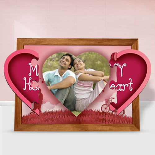 Remarkable Personalized Magnetic Heart Photo Frame