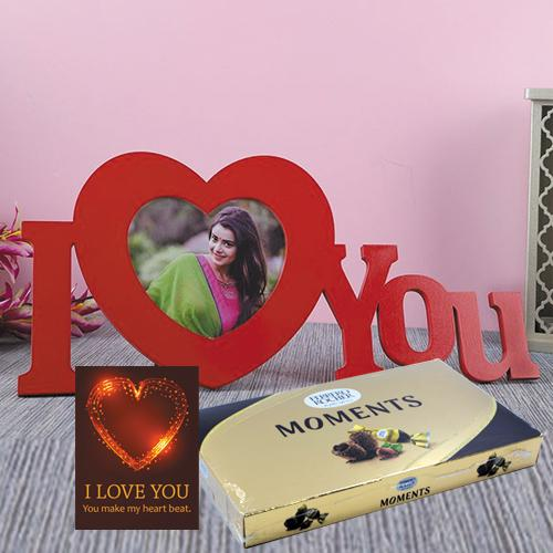 Wonderful Personalized ILU Gift Combo with Chocolates