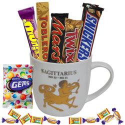 Exotic Sagittarius Sun Sign Printed Mug and Chocolate Hamper