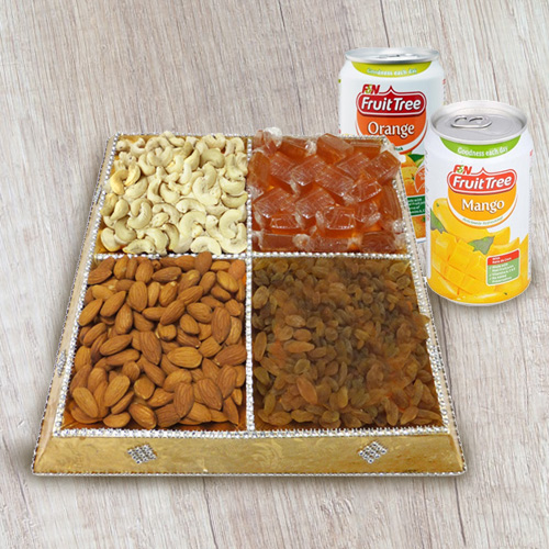 Mood�s Pep Dry Fruit and Beverage Combo