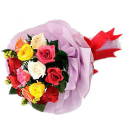 Colorful Roses Bouquet