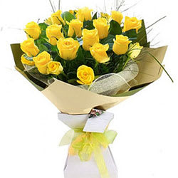 Fresh Yellow Roses Bouquet
