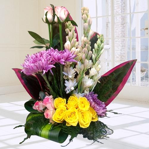 Beautiful Arrangement of Assorted Flowers