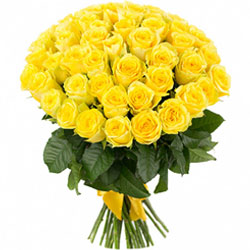 Perfect Bouquet of Yellow Roses