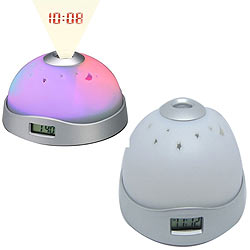 Classic Colorful Lighting Projection Clock in Style