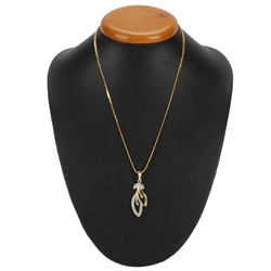 Extremely Delicate Gold Plated Necklace with Tranquil Leaf Pendant