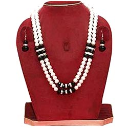Exclusive Double Row Stone Studded Pearl Jewelry