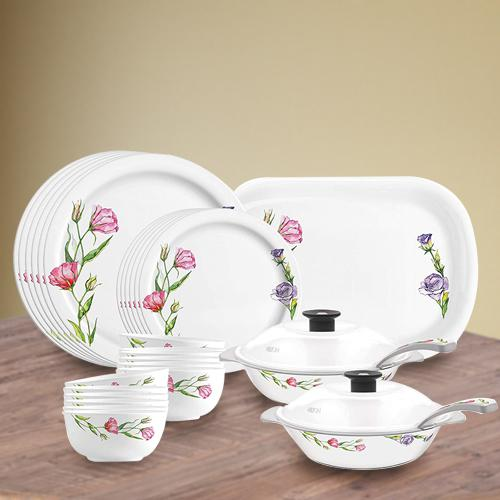 Captivating Milton Lissome Round Melamine Dinner Set