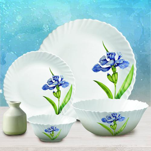 Beautiful LaOpala Royal Iris Classic Collection Dinner Set