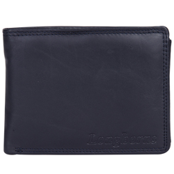Attractive Gents Leather Wallet from Longhorn in Black and Red Colour