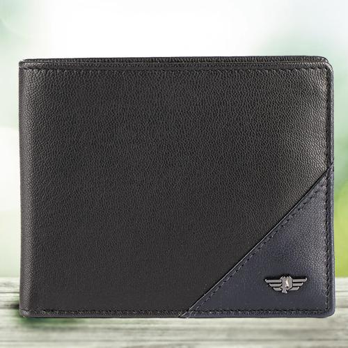Admirable Black Gents Leather Wallet from Police