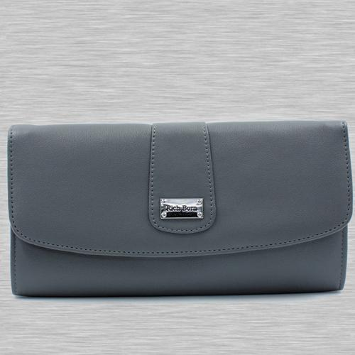 Attractive Grey Color Leather Handbag for Her