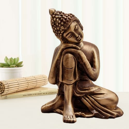 Admirable Relaxing Buddha Metal Showpiece