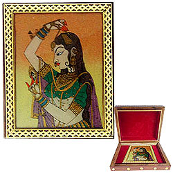 Lovely Ladies Meenakari Styled Wooden Jewellery Box