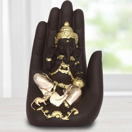 Wonderful Handcrafted Palm Ganesha Showpiece