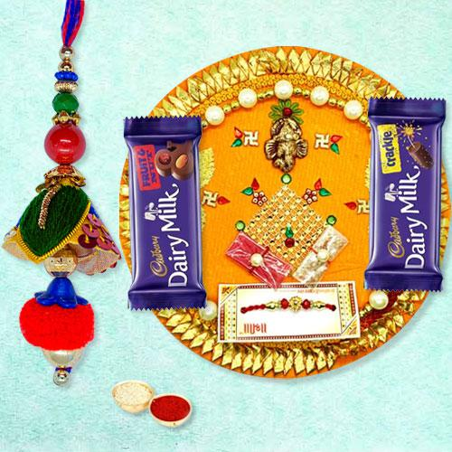 Cadbury Chocolates with Pooja Thali n Designer Lumba