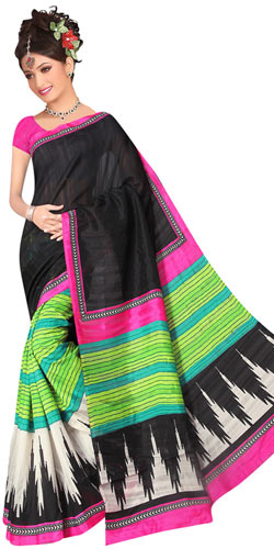 Beautiful Royal Art Silk Printed Saree in Multi Colours