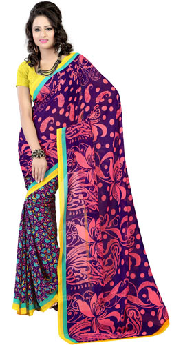 Sheeny Resplendence Faux Georgette Saree