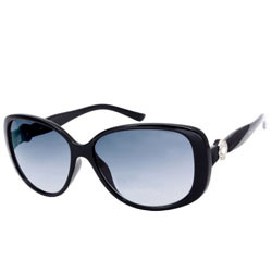 Smart-Looking Ladies Oval Black Sunglasses from Opium<br>