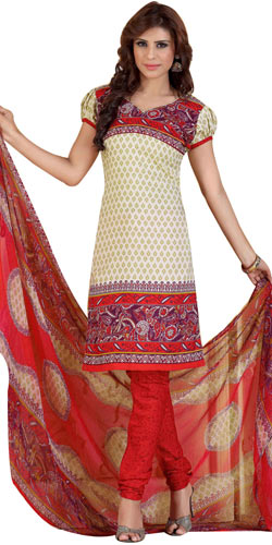 Sizzling Women�s Favorites Printed Salwar Suit from Siya