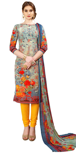 Popular Ladies Special Spun Cotton Salwar Suit in Floral Print Design