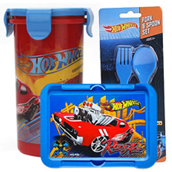 Smart Looking Kids Delight Hot Wheels Tiffin Set