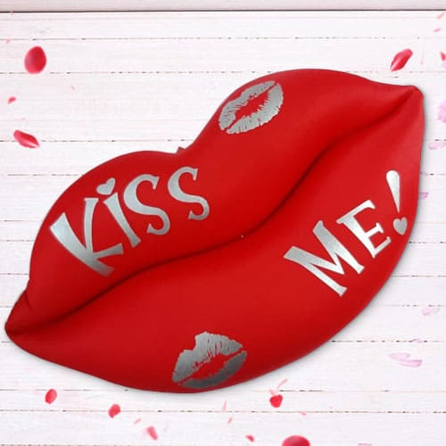 Delightful Lip Shaped Cushion