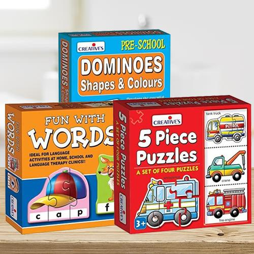 Exclusive Trio of Learning Puzzle for Kids