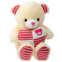 Cute Bear with Heart wrapped with Romance