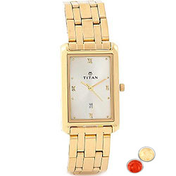 Sappy Gents Watch from Titan with free Roli Tilak and Chawal