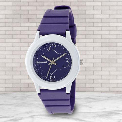 Remarkable Sonata Fashion Fibre Analog Womens Watch