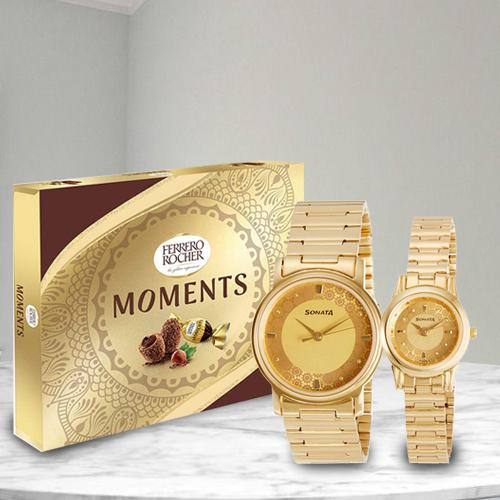 Wonderful Sonata Analog Watch N Ferrero Rocher Moments Choco