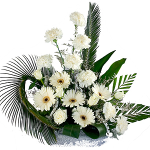 Magnificent Arrangement of 2 Dozen White Blooms